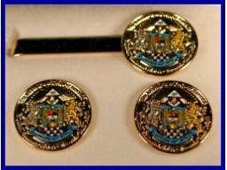 Set butoni +ac cravata Conferinta Marilor Loji Regulare