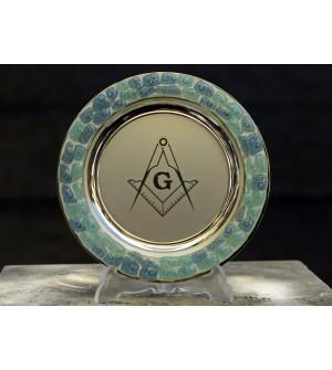 Platou sticla Murano cu insemn Echer&Compas
